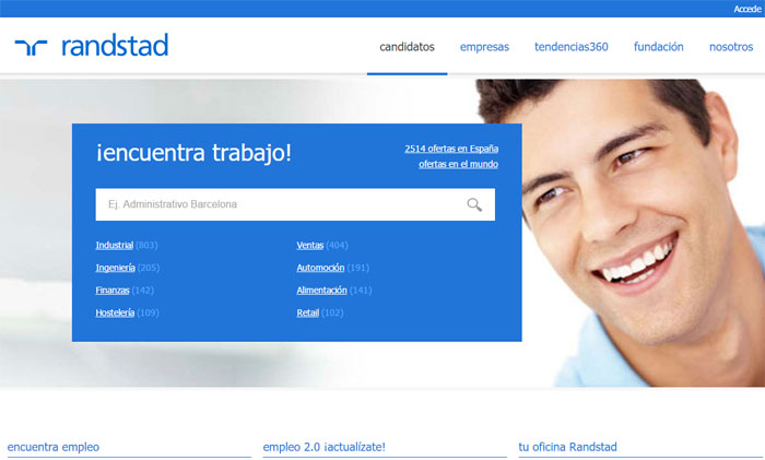 Randstad espa a e internacional empresas de trabajo temporal for Oficinas de trabajo temporal